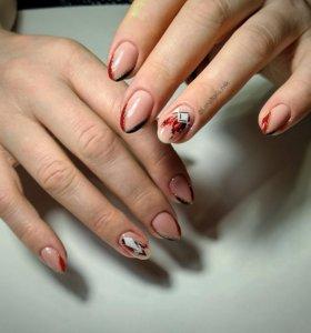 Маникюр,покрытие гель-лак,шеллак,ногти