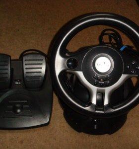 игровой гоночный руль Oklick W-5 Mini