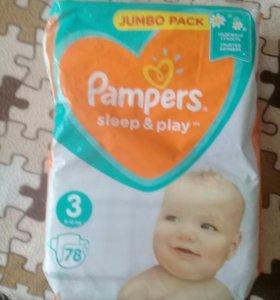 Pampers sleep&play 3 6-10кг