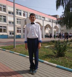 Рубашка школьная р. 146