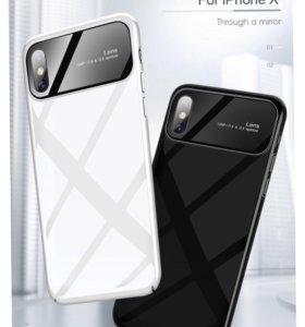 Новый чехол чёрного цвета на IPhone X