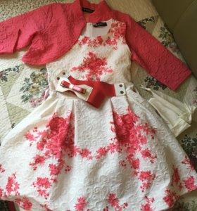 Нарядное платье 140