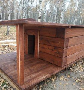 домик для собаки из бруса