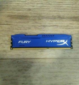 Оперативная память HyperX Fury DDR3 4gb (1 плажка)