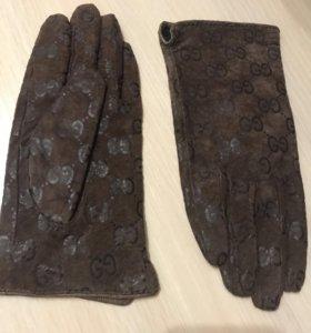 Перчатки замша натуральная