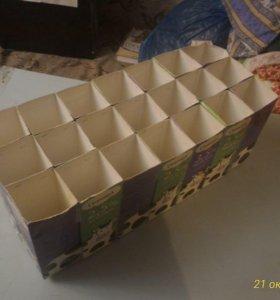 Бумажные ящики для рассады