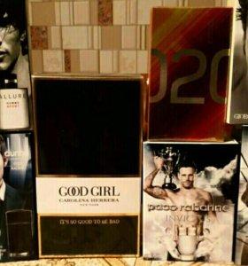 Мужской и женский парфюм в ассортименте
