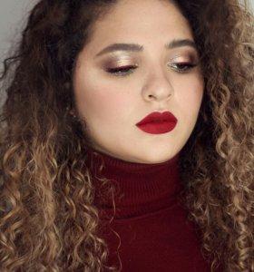 Локоны и макияж