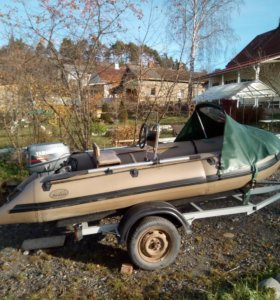 Продам лодку ПВХ Badger-370 с мотором Yamaxa 20
