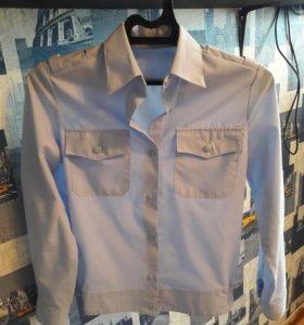 Форменная рубашка РЖД.(белая,голубая)