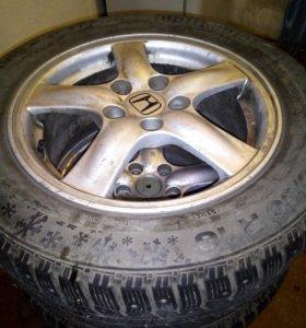 Литые диски Honda R16 зима.