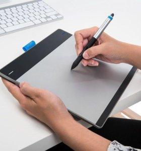 Графический планшет Wacom Intuos pen touch medium