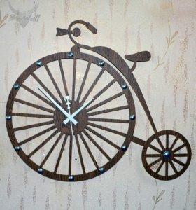 """Часы в стиле лофт """"Велосипед"""""""