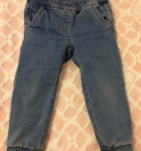 Утеплённые джинсы 86р