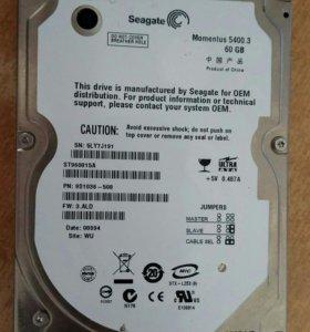 Жёсткий диск seagate 2.5 60Gb