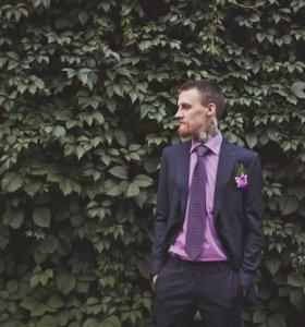 Костюм + рубашка + галстук, Truvor р.М, 46-48