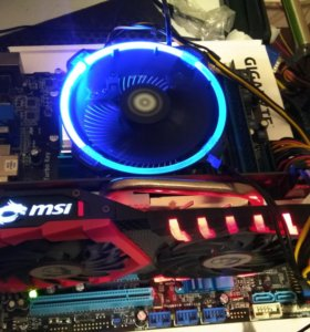 Новый кулер под Intel с подсветкой BOX + термопаст