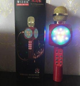 Микрофон 🎤с колонкой и светомузыкой беспроводной