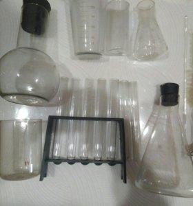 Набор химической посуды для фото