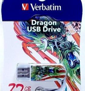 НОВЫЕ флешки Verbatim 32Gb, запечатаны