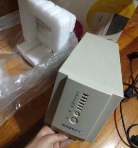 Ибп Ippon Smart Power 1000 с 2 новыми акб