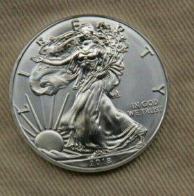 1 доллар США Америка 2018 г серебро.
