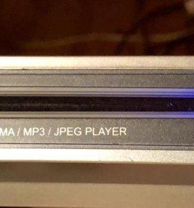 Dvd плеер slim с пультом + коллекция DVD детских