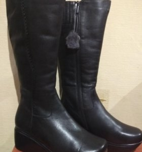 Сапоги кожаные, зимние, новые, 36 и 37 размер
