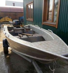 Лодка Wallboat 37 с мотором Suzuki DF15A