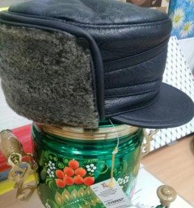 Новая вся натуральная зимняя кепка.