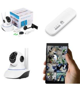 Комплект видеонаблюдения онлайн поворотная камера