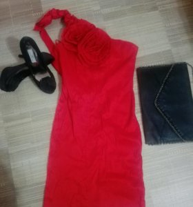 Платье 500 ,клатч 250 и туфли 500
