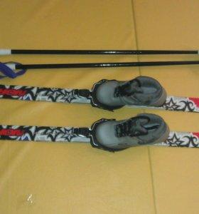 Детские беговые лыжи с ботинками