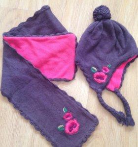 Зимний комплект шапка и шарф H&M 3-6 лет