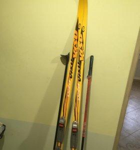Лыжи с лыжными палками