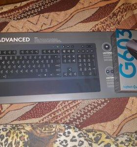 Игровые клавиатура и мышь Logitech G613 и G603