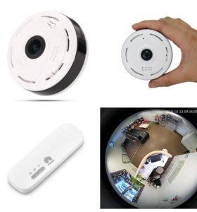 Комплект онлайн видеонаблюдения 360гр