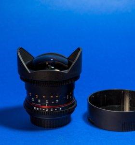 Объектив Samyang 8mm T3,8 Fish-eye VDSLR Canon
