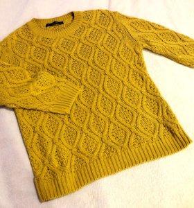 💛Желтый свитер вязаный 🧡