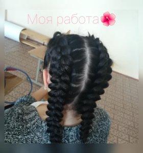 Плету косы на разную длину волос😻