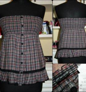 топ с открытыми плечами можно носить и как юбку