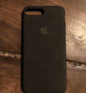 Оригинальный новый чехол для IPhone 8 PLUS чёрный