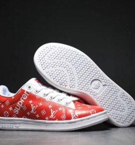 Adidas Stan Smith x LV x Supreme