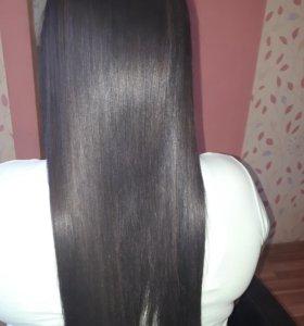 Кератин ,ботокс, нанопластика волос длина до плеч