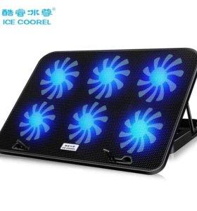 Охлаждающая подставка для ноутбука с подсветкой