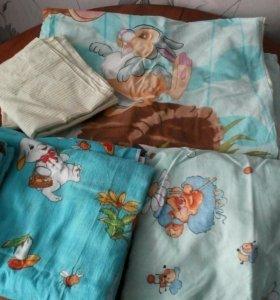 Цена за три набора,постельное детское!