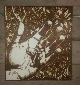 Картины на дереве