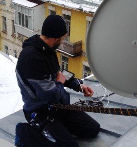 Установка спутникового и эфирного тв