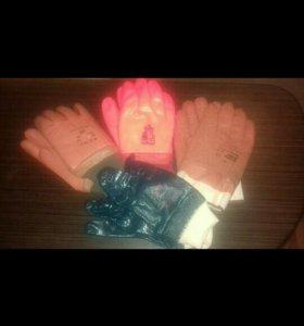 Перчатки прорезиненные.Остались только оранжевые