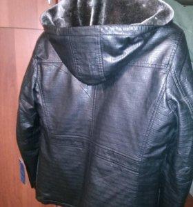Куртка димесезонная,меховой подклад,можно убирать,